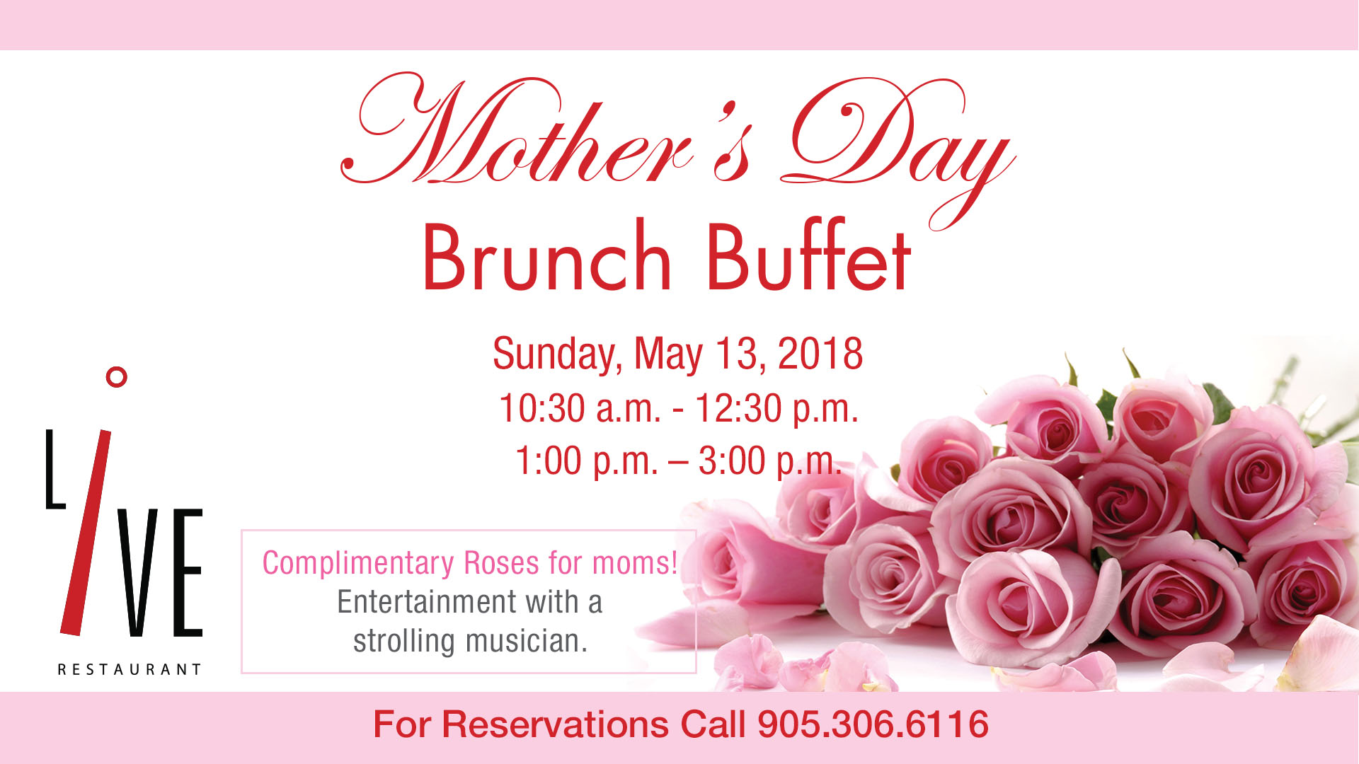 Mothers Day Brunch At Live Restaurant Living Arts Centre